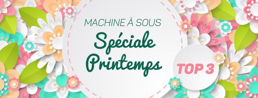 machines à sous thème printemps